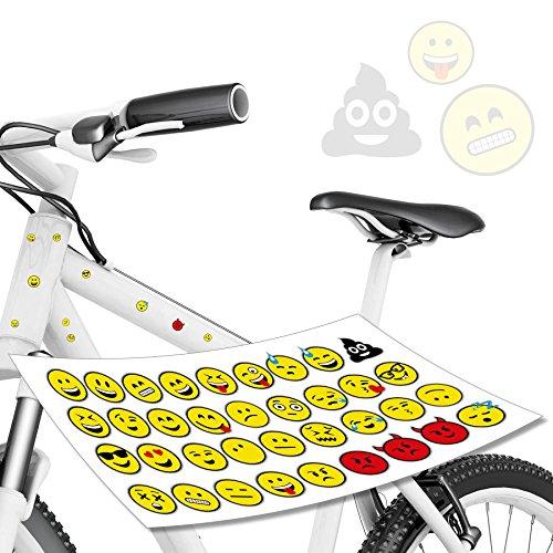 style4Bike Smiley Aufkleber Set Smile Gesichter Kackhaufen für Fahrrad, Aurto & Co