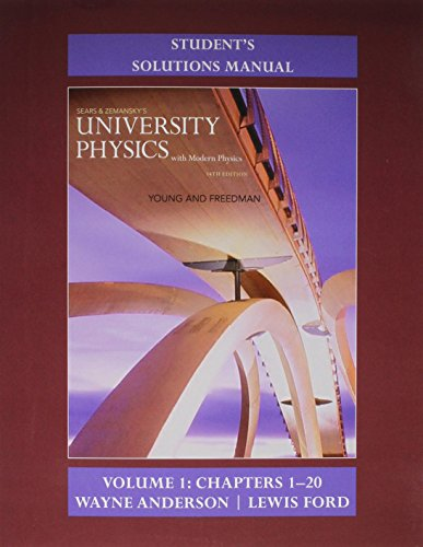 Student's Solution Manual for University Physics with Modern Physics Volume 1 (Chs. 1-20)