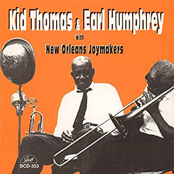 """""""Kid"""" Thomas Valentine and Earl Humphrey with New Orleans Joymakers"""