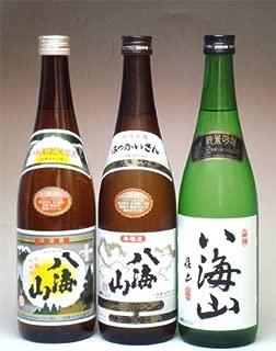 銘酒しらい屋特選 清酒八海山・八海山本醸造・八海山純米吟醸720ml×3本セット