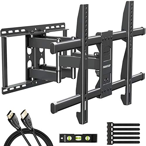 MOUNTUP Full Motion TV Wall Mount Bracket for 42-70 Inch Flat Screen/Curved TVs, Wall Mount TV Bracket - Articulating Arms with Smooth Extension, Swivel, Tilt, Max VESA 600x400mm and 100LBS, MU0012