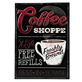 Open Road Brands Coffee Shop Embossed Metal Sign