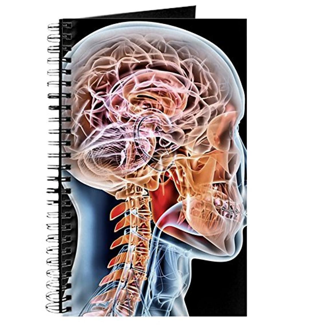 CafePress Internal Brain Anatomy, Artwork Spiral Bound Journal Notebook, Personal Diary, Lined