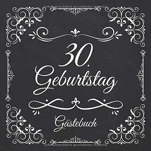 30. Geburtstag Gästebuch: Vintage Gästebuch Zum Eintragen und Ausfüllen für Glückwünsche für...