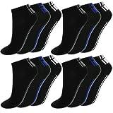 BestSale247 12 Paar Herren Sneaker Socken Füßlinge Kurzsocken Baumwolle (Muster 8, 43-46)