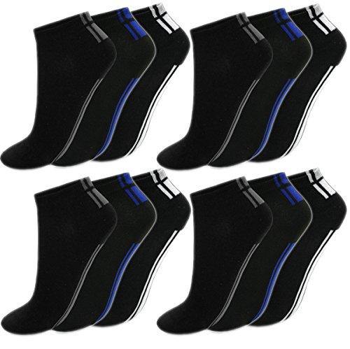 BestSale247 12 Paar Herren Sneaker Socken Füßlinge Kurzsocken Baumwolle (Muster 8, 39-42)
