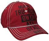True Religion Men's Tour Cities Baseball Cap, True Red, One Size