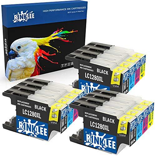 RINKLEE 12 Compatibles LC1280XL LC1240XL Alta Capacidad Cartuchos de Tinta Reemplazo para Brother MFC-J430W MFC-J5910DW MFC-J6510DW MFC-J6910DW MFC-J825DW MFC-J625DW DCP-J925DW DCP-J725DW DCP-J525W