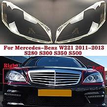 DZWLYX En Forma for el Mercedes-Benz Clase S W221 S280 S300 S350 S500 2011-2013 Coche Frente Linterna Cubierta de Lente automática de Faros Shell Pantalla (Color : Left)
