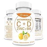 Soporte Sistema Inmune: Vitaminas C y D con Zinc y B6 | Suplemento Premium Para Fortalecer el Sistema Inmune y Reforzar Tus Defensas | Fórmula Concentrada SIN Rellenos Artificiales con Ingredientes Naturales