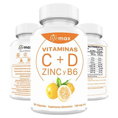 Soporte Sistema Inmune: Vitaminas C y D con Zinc y B6 | Suplemento Premium Para...
