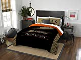 The Northwest Company NHL Anaheim Ducks Twin Comforter and Sham Set, Twin Black