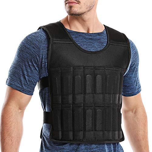 DOBEN Gewichtsweste Verstellbar von 10kg Krafttraining Weight Vest mit herausnehmbare Metall Stahlblech für Gewicht Training Krafttraining Übung Weste Laufen Joggen