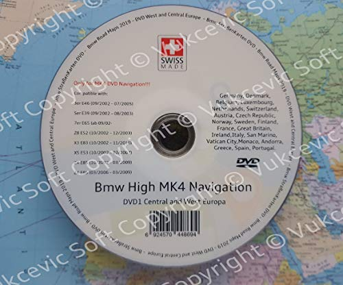 B M W High DVD 2018 Europe DVD Navigation MK IV DVD1 + Update V32 New