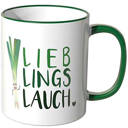JUNIWORDS Tasse - Wähle eine Farbe -Lieblingslauch - Grün