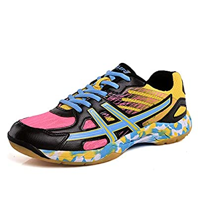 TOOSBUY Unisex Volleyball Badminton Shoes Men Women Training Sneaker Lightweight Table Tennis Shoes for Indoor Court Running, Jogging Trainers by TOOSBUY