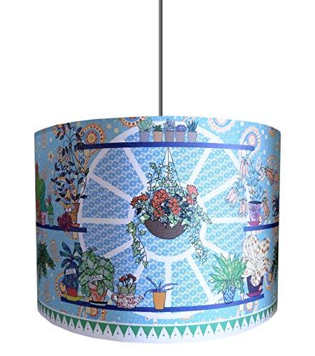 KÜCHENFENSTERLAMPE MollyMac | 21 x 30 cm | Stilvolles Zuhause | Gezeichnet, entworfen und hergestellt in Großbritannien Decken- oder Lampensockel