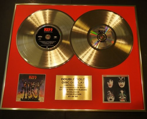 Kiss/Doppel-CD Gold Disc Display/LTD. Edition/COA/Destroyer & Dynasty