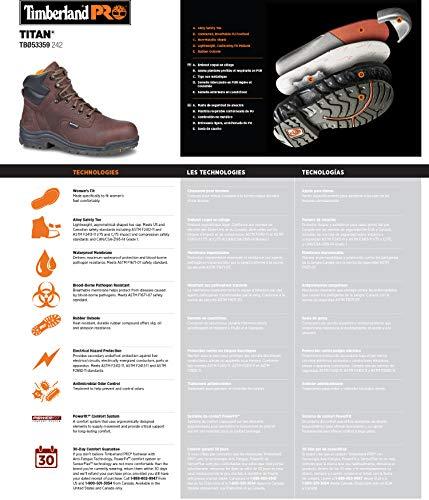 Timberland PRO Women's Titan WaterProof Boot,Brown,7.5 W US
