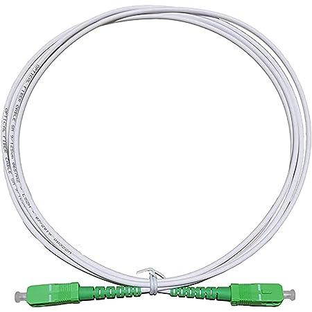 Câble Fibre Optique Orange SFR Bouygues Connecteurs SC/APC a SC/APC Jarretière Optique pour Orange Live Box (jaune, 2M)