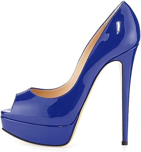 MKJPO Sandales, Bouche de Poisson Poisson Confortable et antidérapante, Plateforme imperméable, Chaussures pour Femmes (Couleur   K, Taille   40 FR)  prix les plus bas