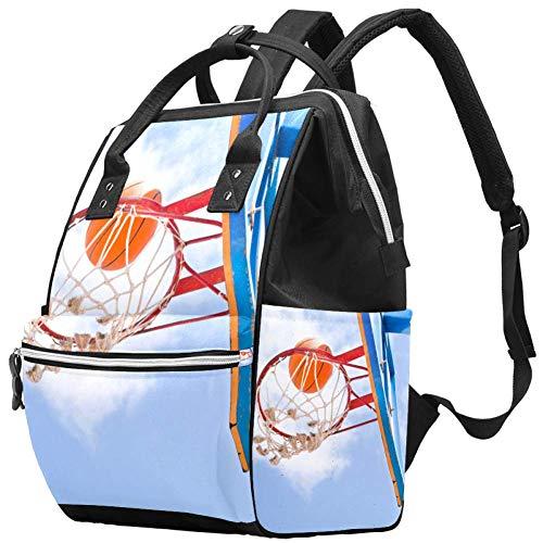 Bolsa de pañales de color arcoíris con lunares de animales, bolsa de pañales de gran capacidad, bolsa de pañales de lactancia y viaje para el cuidado del bebé negro Color08 Talla:10.6x7.8x14in
