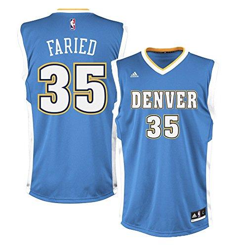 Denver Nuggets Kenneth faried # 35réplica de la camiseta (luz azul), hombre, azul