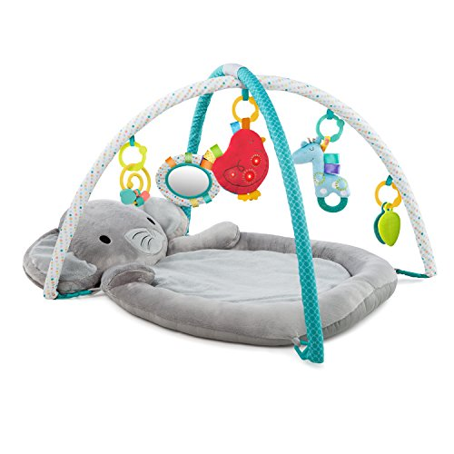 Save %10 Now! Bright Starts Enchanted Elephants Activity Gym with Ultra-Plush Soft Mat, Ages Newborn...