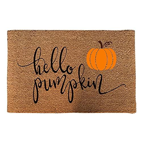 N% Halloween Creative Fußmatte rutschfeste Natur Kokos-Fußmatte Halloween Haustür Willkommens-Fußmatten - Terrassenteppich Außeneingang Teppich Heimtextilien (B)
