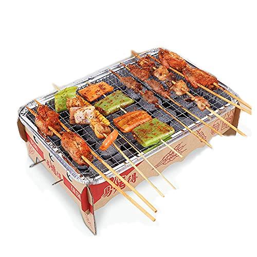 51Z469GOU+S. SL500  - ZIYEWAN Grill-Werkzeugset Einweg-Grill, tragbarer Grill aus Edelstahl Holzkohle-Grill im Freien für Picknick-Patio im Freien Hinterhof Camping Kochen