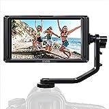 ESDDI F5 5 Zoll Kamera Monitor Full HD IPS Bildschirm Monitor unterstützt 4K HDMI Input 1920x1080 wiederaufladbarer Li-ion Akku inklusive USB-Akkuladegerät für Sony Canon Nikon Kameras