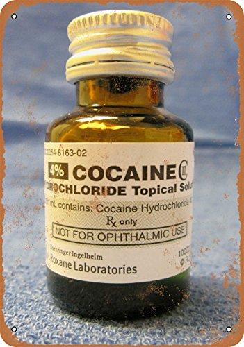 La Cocaina Cloridrato analgesico bottiglia look vintage Alternatore in riproduzione