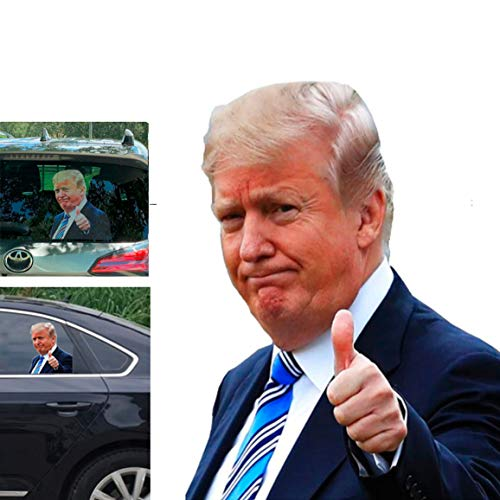 Toogod Trump 2020 Car Stickers Car Window Decal Window Cling,Ride with Trump(for Left Side)