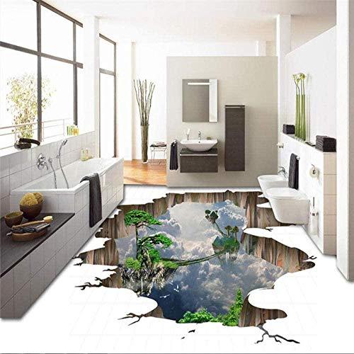 Benutzerdefinierte 3D-Boden selbstklebende PVC-Aufkleber 3D-Tapete Wandbild im Freien Hintergrundwand 3D-Bodenmalerei-150 * 105cm