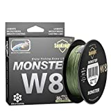 SeaKnight Monster W8/S9 Braided Line 8 Strands/ 9 Strands Braided Fishing Line 328Yards/547Yards Super Smooth PE Braided Lines Multifilament Fishing Lines-Abrasion Resistant, Low Memory, Zero Stretch