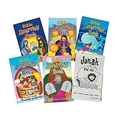 Fun Express Bible Activity Pads (12 Books of 48 Pages Each) Sunday School Supplies from Oriental Trading Company