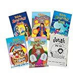 Fun Express Bible Activity Pads (12 Books of 48 Pages Each) Sunday School Supplies