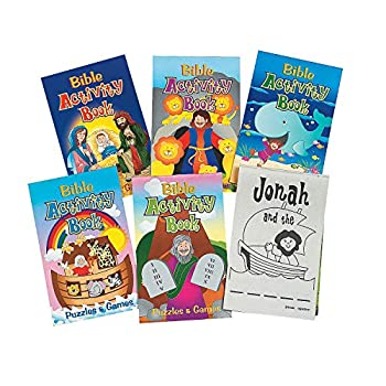 Fun Express Bible Activity Pads  12 Books of 48 Pages Each  Sunday School Supplies