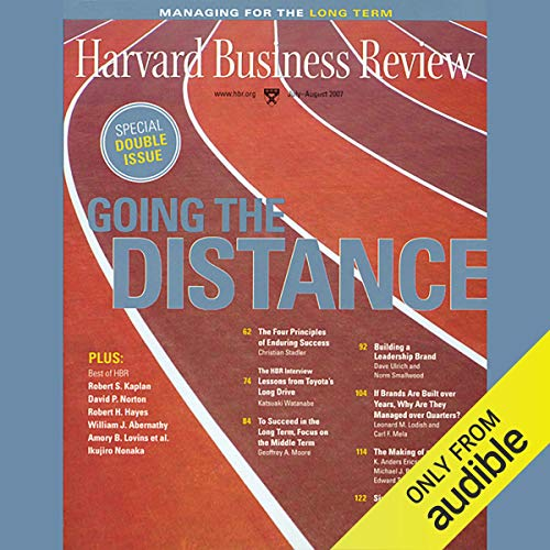 Harvard Business Review, Managing For the Long Term copertina
