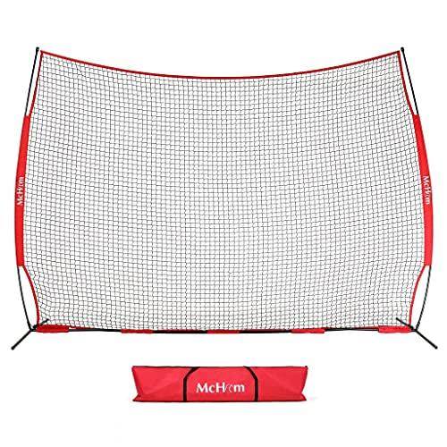 McHom 12ft x 9ft Sports Barrier Net   Backstop for Baseball, Softball, Soccer, Basketball, Lacrosse...