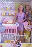 Barbie Happy Family Midge and Baby Doll Set Newborn Version Mom and Baby Doll (Not the Pregnant Version)