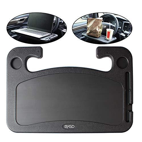 BYGD - Escritorio de volante de coche portátil multifunción, diseño a doble cara, bandeja de volante automático para ordenador
