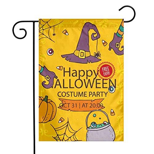 Jacklee Cartoon Happy Halloween Kostuum Party Tuin Vlaggen Duurzame Niet-Fading Decoratieve Vlaggen Premium Verticale Huis Vlag Polyester Delicate Outdoor Banner voor Alle seizoenen & Vakanties - 12