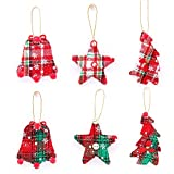 12 Pieces Christmas Tree Ornaments Hanging Decorations, Christmas Stocking Tree Star Shaped Decor