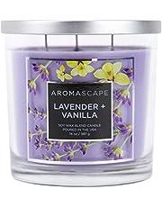Aromascape 3-Wick Scented Jar Candle, Lavender & Vanilla
