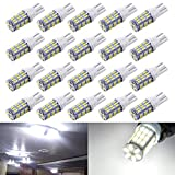 AOKEzl 921 RV Interior LED Light Bulbs, T10 912 194 LED Camper Light Replacement Bulbs for RV Car Dome Map Door License Plate Trailer Backup Reverse Lights, White 42-SMD Super Bright (White, 20)