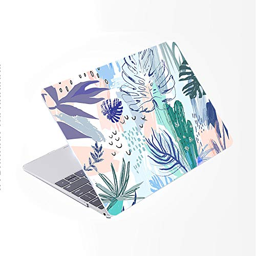 SDH Case Compatible Older for MacBook Pro Retina 13 inch (Release 2015-end 2012),Plastic Pattern Hard Shell & Gradient Keyboard Skin Cover for Mac Book Pro 13 (Model:A1502/A1425), Abstract Plants 5