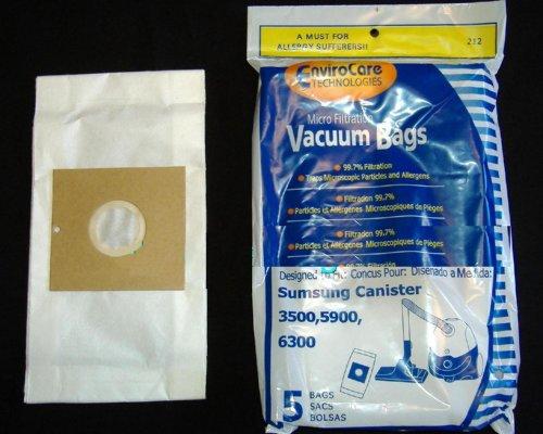 Samsung 3500, 5900, 6300Canister Micro filtración bolsas de vacío–5en un paquete
