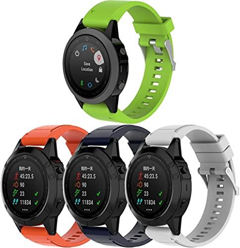 Chainfo Compatible con Garmin Forerunner 935 / Forerunner 945 / Forerunner 745 Correa de Reloj, Banda de Reemplazo Silicona Suave Sports Pulsera (4-Pack G)