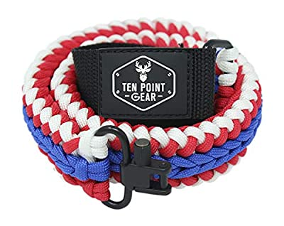 Ten Point Gear Extra Wide Gun Sling Paracord 550 Adjustable w/Swivels (Multiple Color Options) (America)